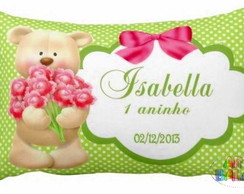 Mini Almofadinhas Ursinha e Flores Linda