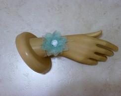 Corsage flor de tecido Nen�far organza