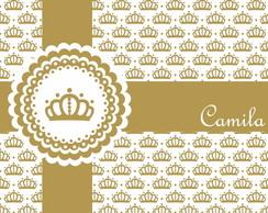 Convite Dourado - Papel Digital