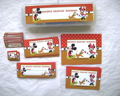 Kit Escolar 01: Mickey e Minnie