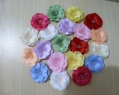 Flor Tecido Miosotis Artesanato