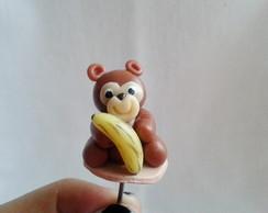 Enfeite De Cuia De Chimarr�o - Macaco