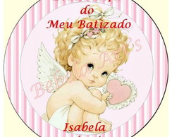 R�tulo Adesivo Latinha 5x5 Batizado