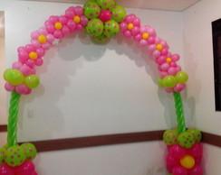 Arco espiral com flor