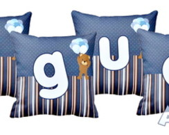 Almofada Personalizada Nome Ursinho Azul