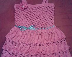 Vestido de croch� 9 meses