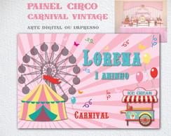 Circo Vintage Painel IMPRESSO LONA