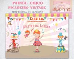Painel Festa Circo Picadeiro Matin� Show