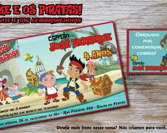 Convite e Tag Jake e os Piratas Especial