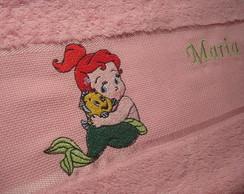 Kit 3 toalhas: Pequena Sereia Baby nome