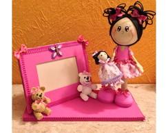 Boneca com porta retrato em EVA