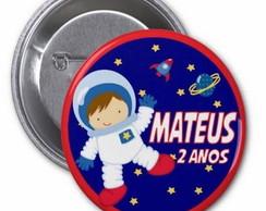 Lindo Botton Personalizado Astronauta