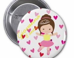 Lindo Botton Personalizado Bailarina