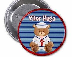 Botton Urso Marinheiro Personalizado