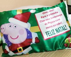 Almofada Personalizada de Natal - Peppa