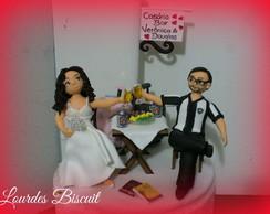 Topo de bolo - Casamento Boteco