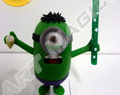 Minion Hulk com vela