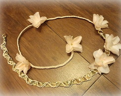 Head-band flores nude