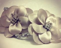 Tiara PRATA swarovski & flores