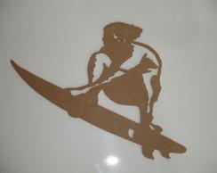Aplique Surfista em MDF 3mm