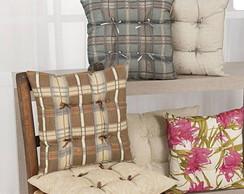 Kit com 2 pe�as almofada para cadeira