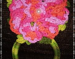 Porta pano de prato floral