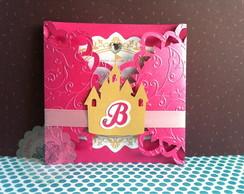 Convite Princesa Castelo Luxo