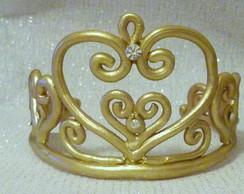 Topo de bolo coroa princesa modelo 2