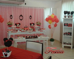 Decora��o festa Minnie vermelha