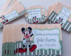Kit adesivos Tema Mickey Safari