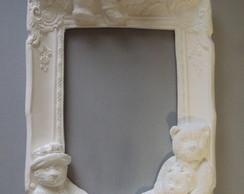 moldura em branco beb� urso