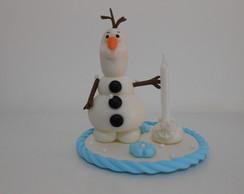 Vela decorada Olaf