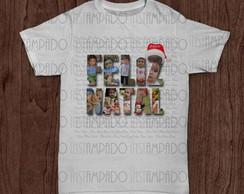 Camiseta - Feliz Natal com Fotos
