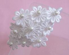 Tiara Flores Grippir Brancas