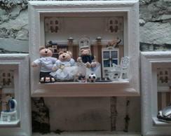 Trio De Quadros Beb� Fam�lia Urso Reis