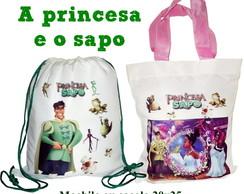 Princesa e o Sapo Mochila ou Sacolinha