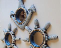 Trio de espelhos n�uticos