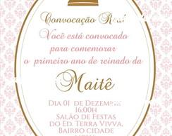 Arte digital Convite Princesa