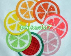 Frutas citricas- 6 Porta copos