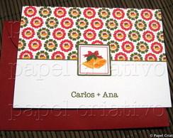 Cart�o De Natal Personalizado - sinos