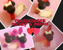 Prendedor / Mickey ou Minnie