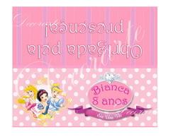 Cart�o De Mesa 12x10cm As Princesas