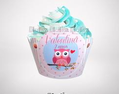 Wrapper (saia) Cupcake Corujinha