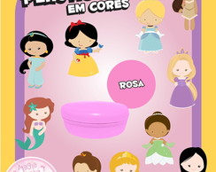 Potinho de Pl�st Cores As Princesas Mini