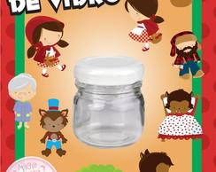 Potinho de Vidro - Chapeuzinho Mini