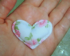 Sach� mini cora��o de tecido 5x3,5 cm