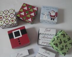 Caixas de Bis Personalizada para o Natal