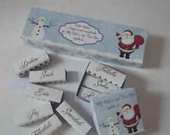 Caixa de Natal - chocolate Personalizado