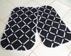 Jogo de Quarto Preto e Branco - croch�