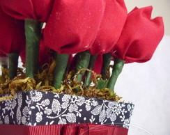 Vaso de tulipas aromatizadas